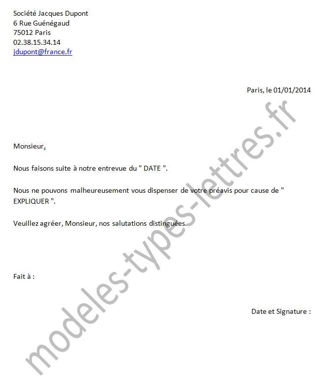 lettre de demission pendant conge parental - Modele de lettre type