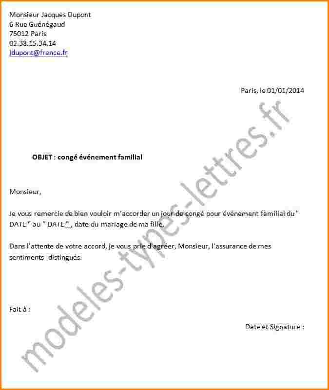 lettre de demission suite a un conge sans solde
