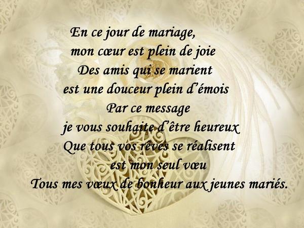 lettre de felicitation pour un mariage