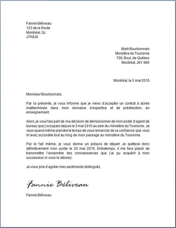 lettre de fin de cdd gratuit