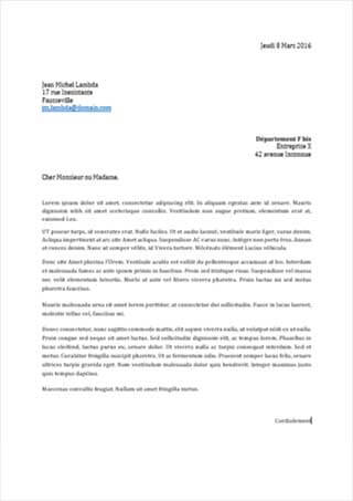 lettre de litiges