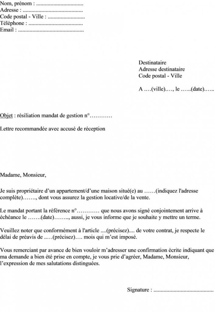 lettre de mandat type