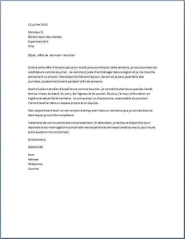 lettre de motivation agroalimentaire debutant