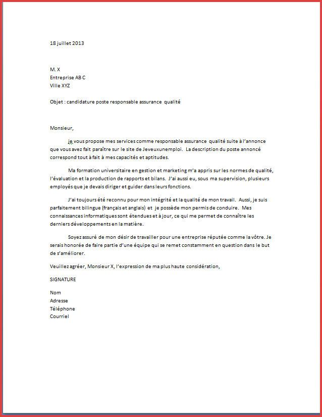 lettre de motivation assurance