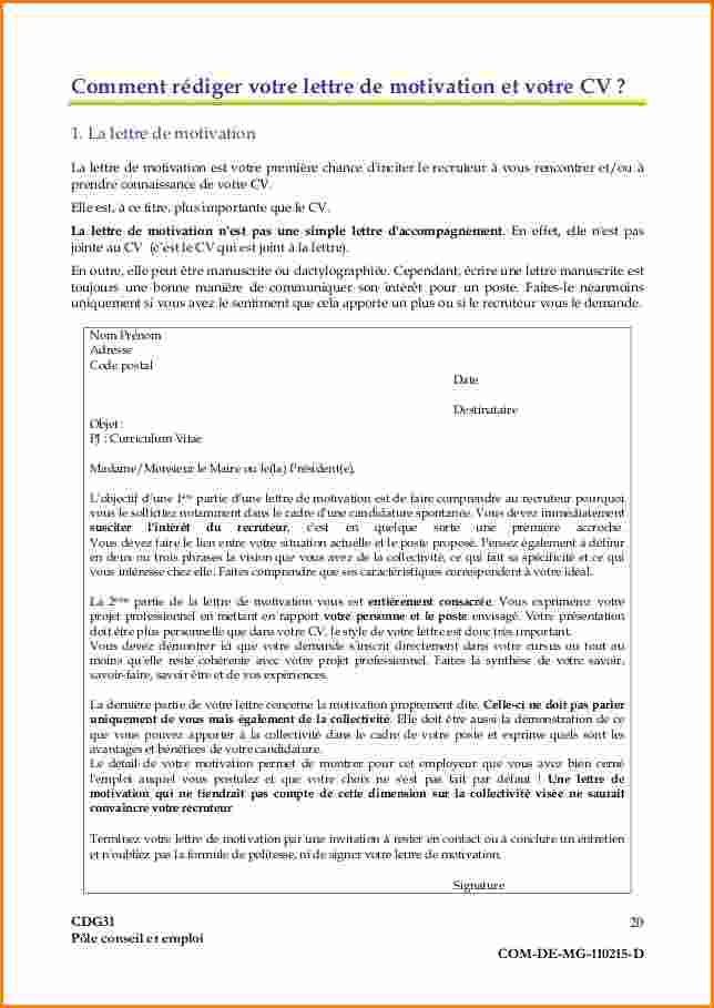 lettre de motivation titularisation dun contractuel