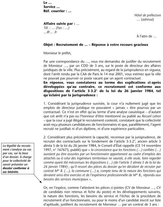 lettre de motivation dans la fonction publique territoriale