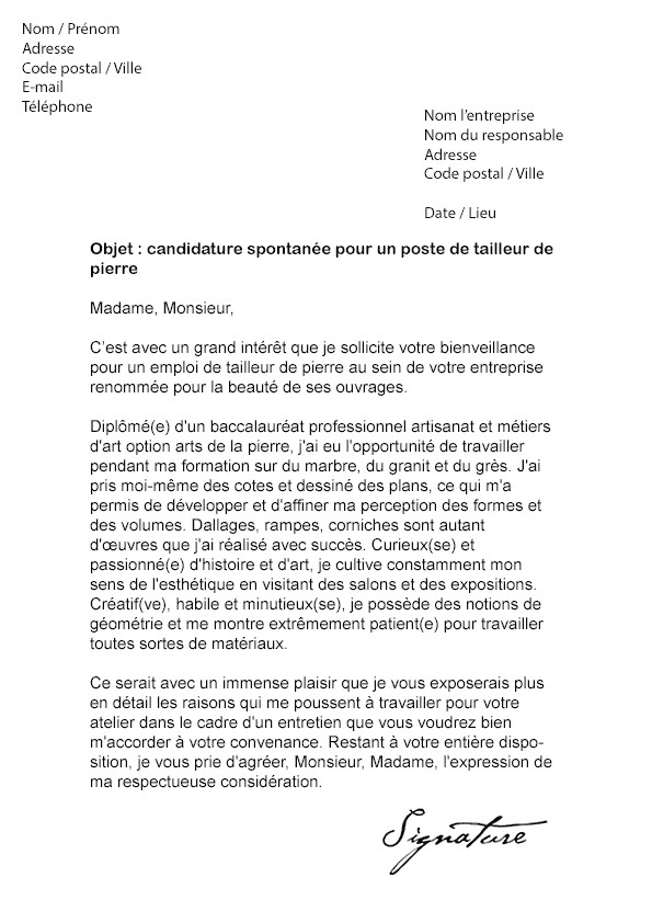 lettre de motivation emploi estheticienne