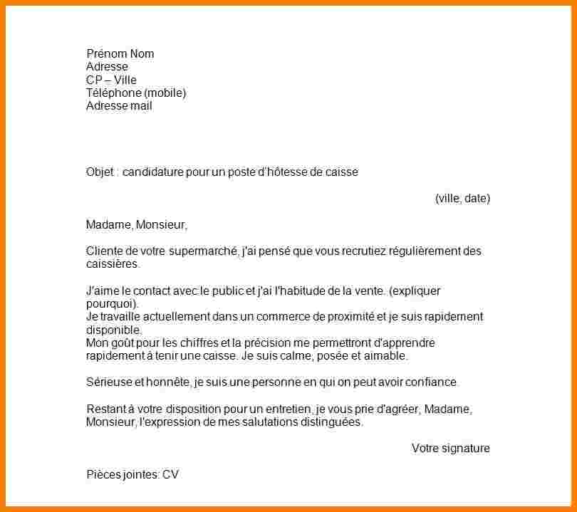 Lettre De Motivation Exemple Pdf Modele De Lettre Type