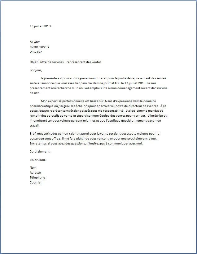 lettre de motivation emploi supermarche