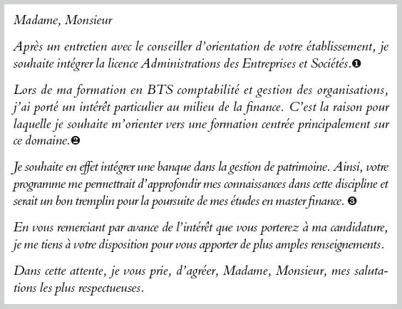 lettre de motivation licence mathematiques - Modele de ...