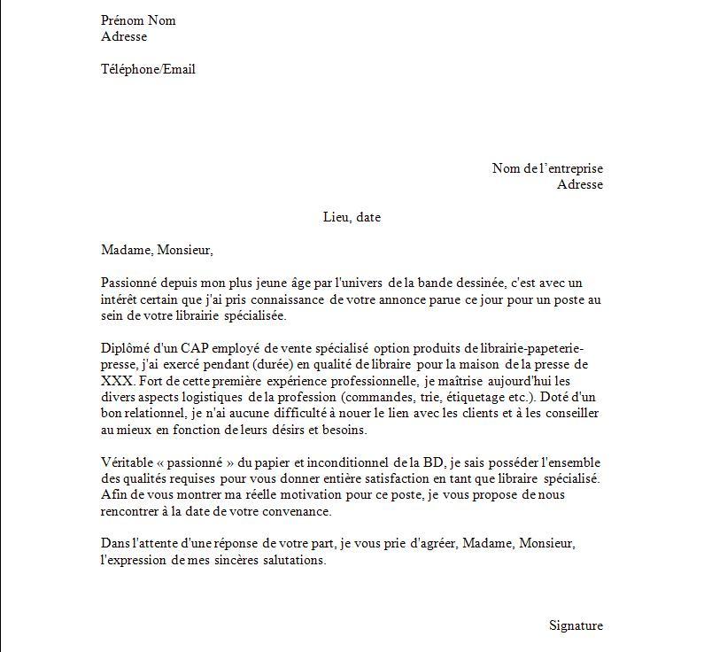 lettre de motivation modeles gratuit