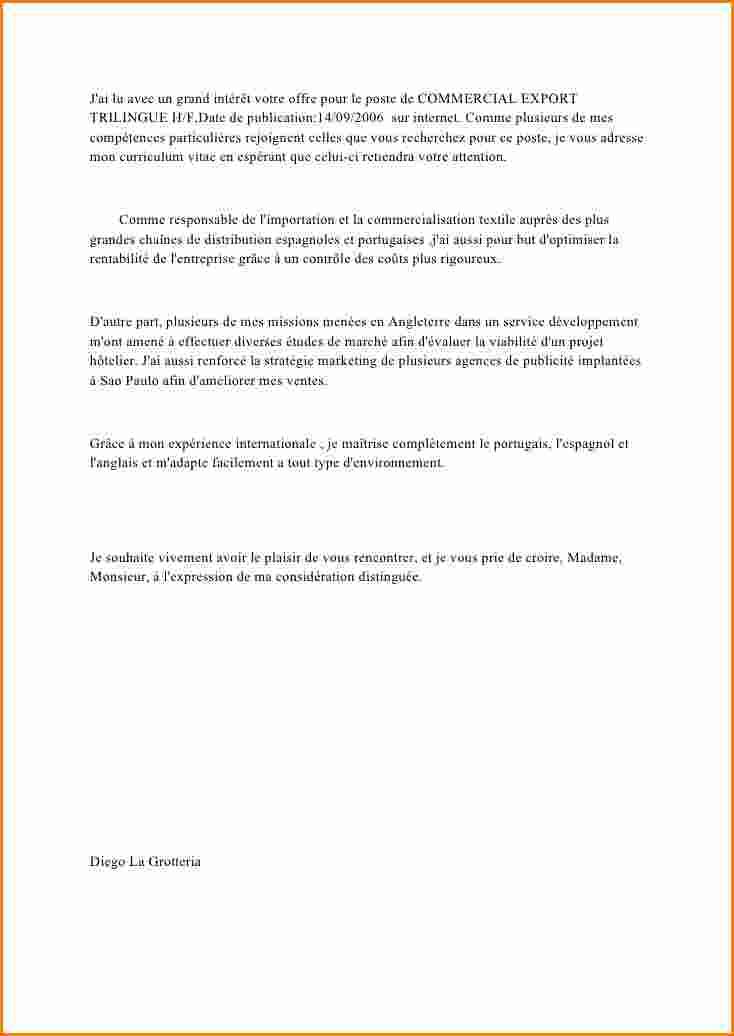 lettre de motivation poste commercial
