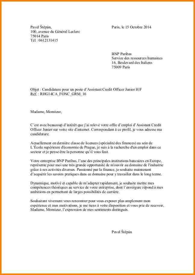 lettre de motivation pour recherche d'emploi spontane ...