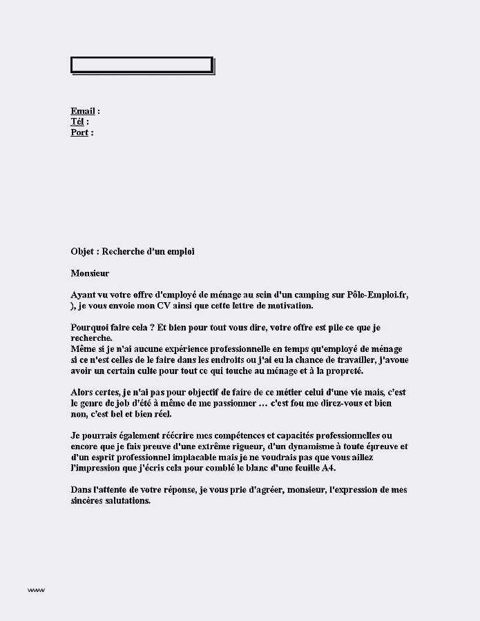 lettre de motivation pour travailler dans un hotel
