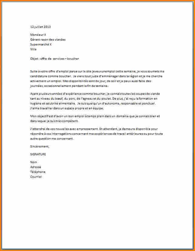 lettre de motivation pour travailler dans un hypermarche