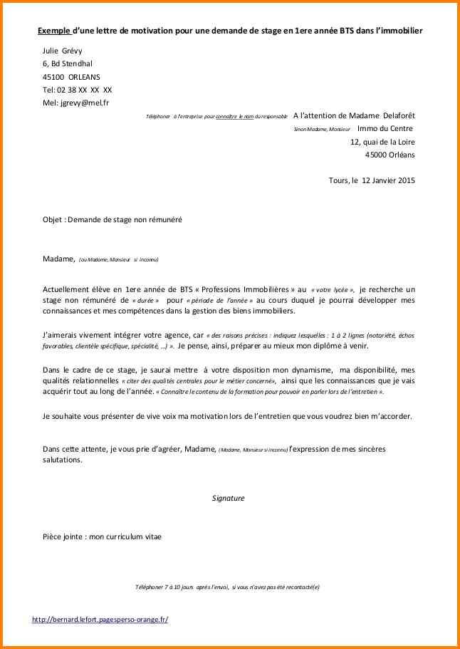 lettre de motivation pour un stage en banque