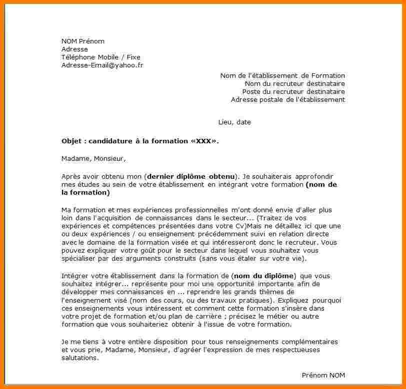 lettre de motivation pour une aide