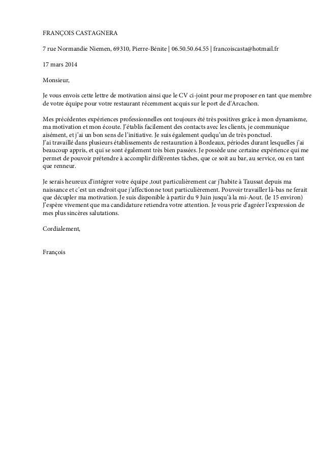 lettre de motivation pour voyage scolaire modele