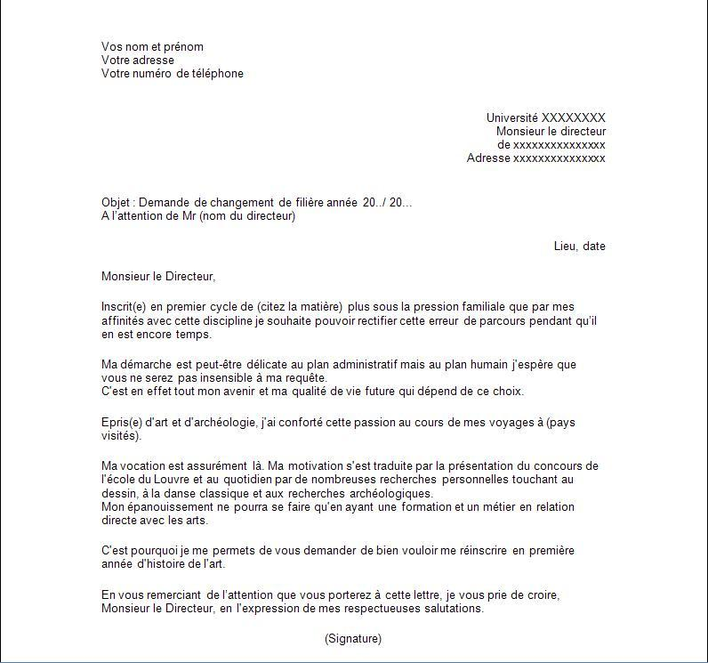 Lettre De Motivation Promotion Interne Modele De Lettre Type