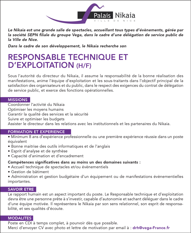 lettre de motivation responsable service technique