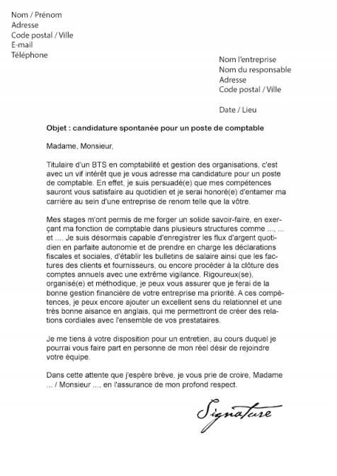 lettre de motivation secretaire comptable