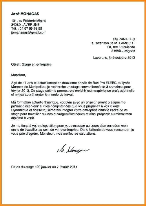 lettre de motivation stage de formation professionnelle