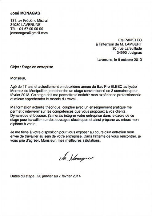 lettre de motivation stage droit