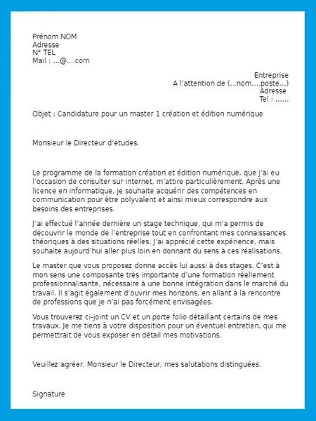 lettre de motivation stage genie civil