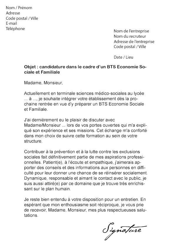 lettre de motivation stage juriste droit social