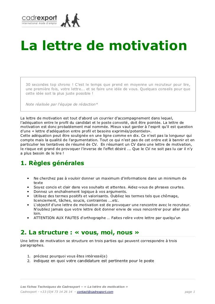 lettre de motivation travail en equipe