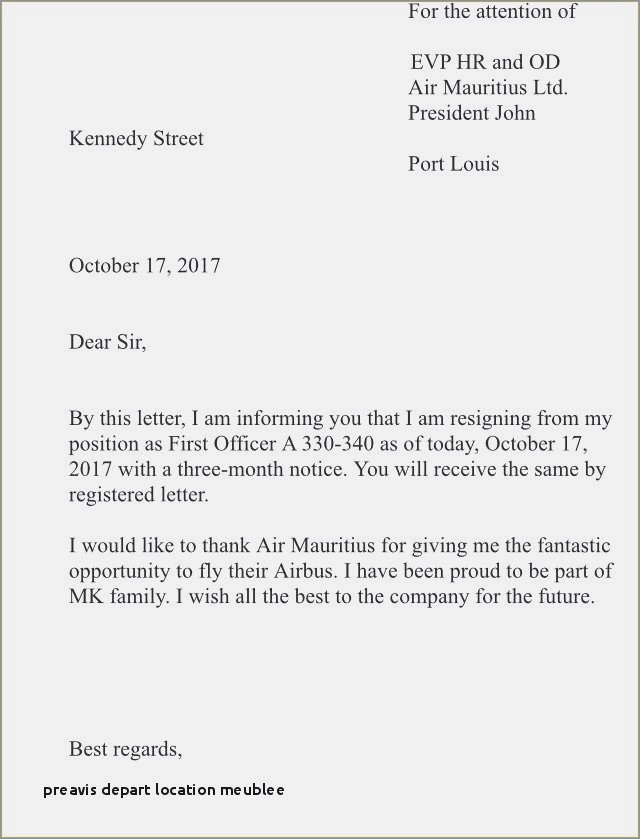 lettre de preavis bail