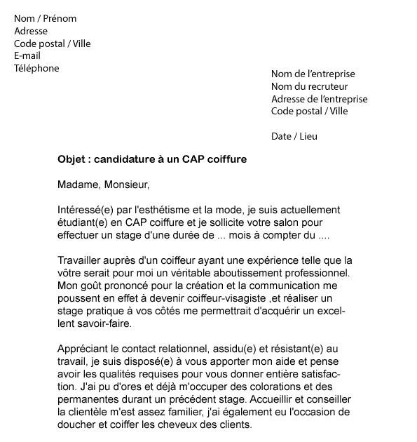 lettre de presentation de voeux