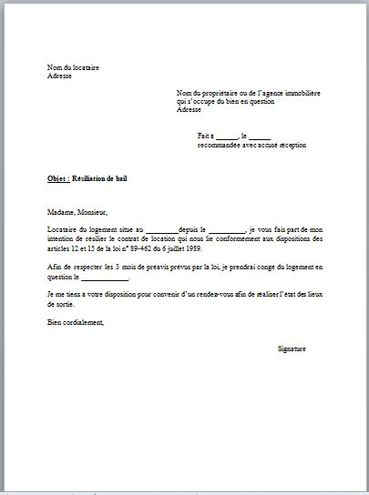 lettre de recherche d'appartement