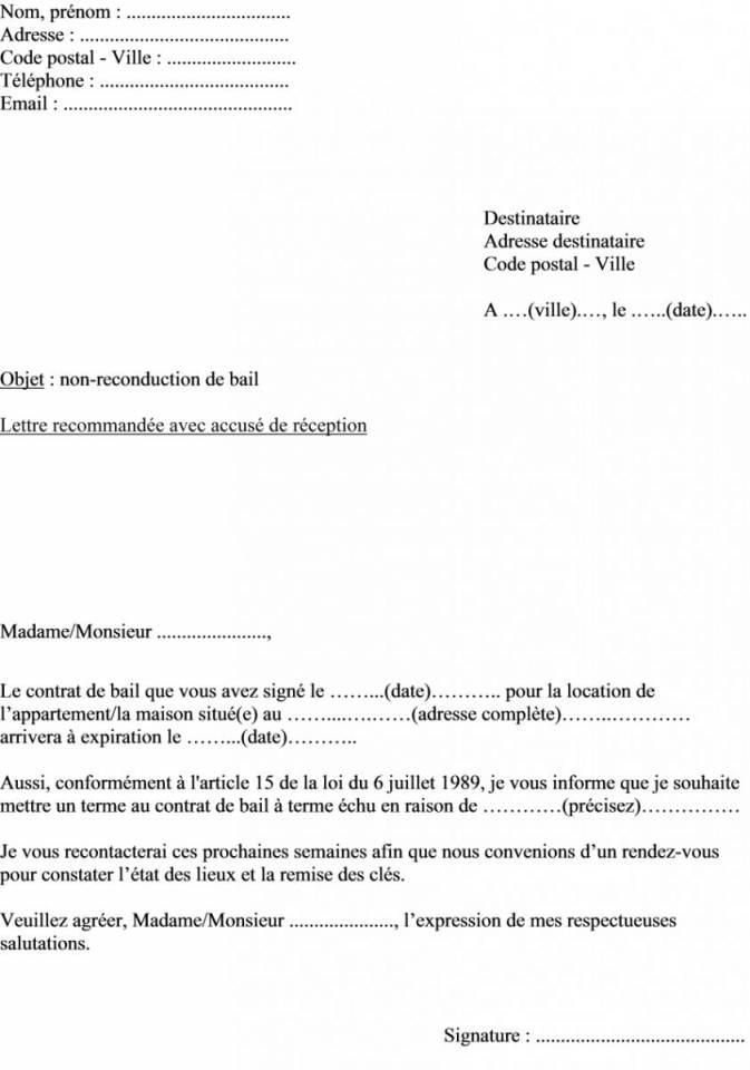 lettre de reduction de preavis