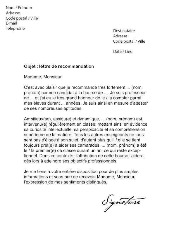 lettre de refus de stage - Modele de lettre type
