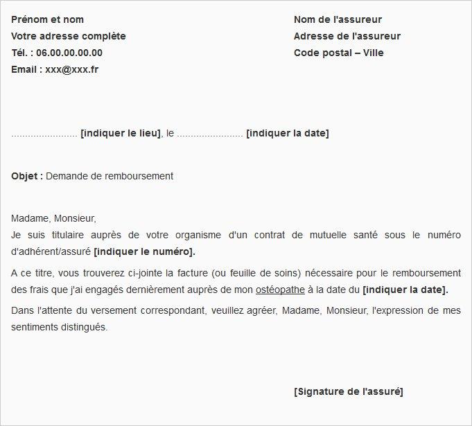 lettre de remboursement free