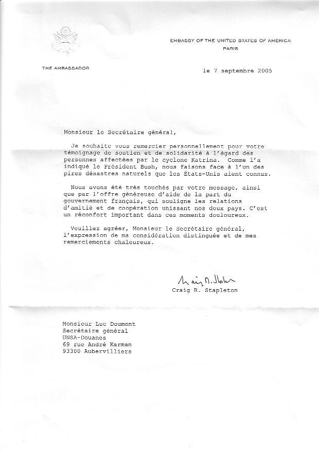 lettre de remerciement prime exceptionnelle