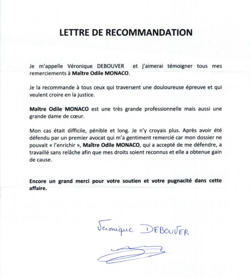 lettre de remerciement professionnel gratuit