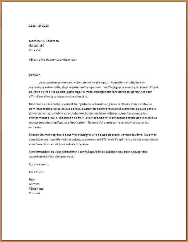 lettre de reparation