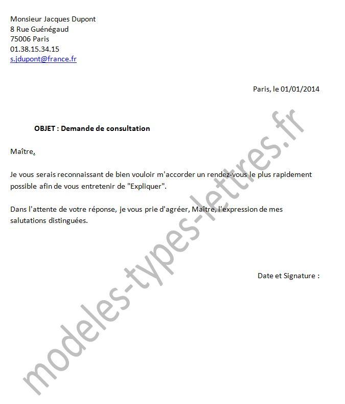 lettre de representation