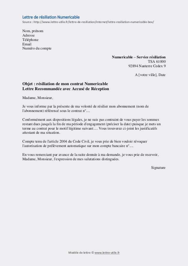 lettre de resiliation bbox