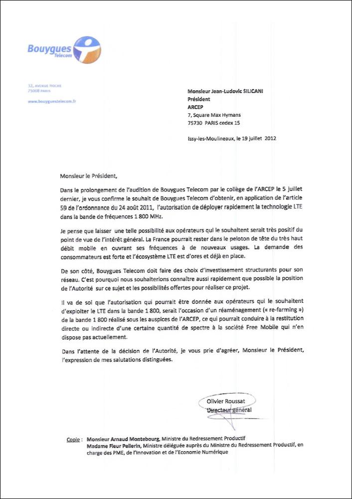 lettre de resiliation bouygues