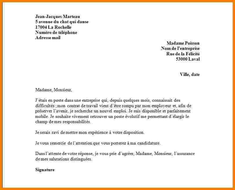 lettre de rupture assistante maternelle - Modele de lettre type