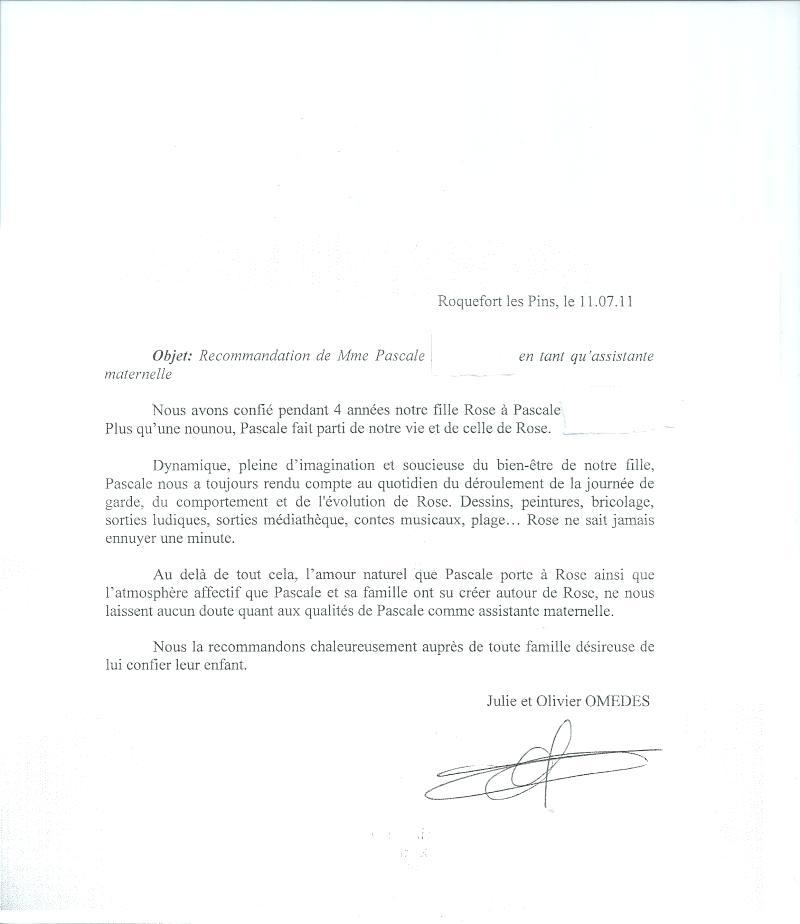 lettre de rupture de contrat nourrice agree - Modele de lettre type