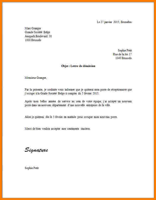 lettre de sortie