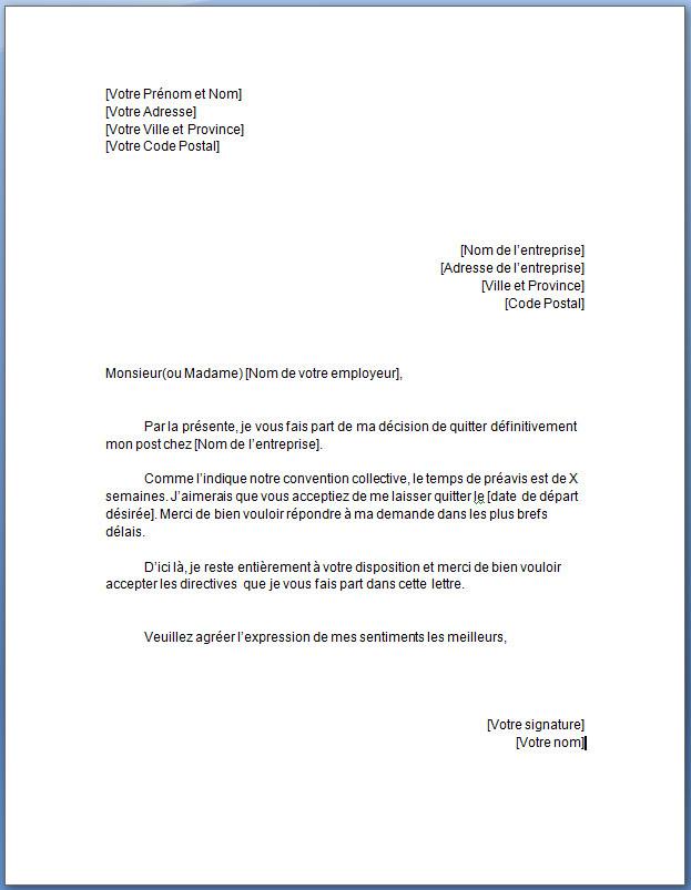 lettre demande d emploi gratuite