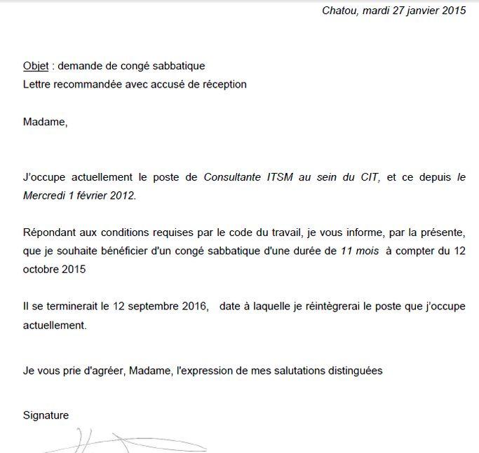 lettre demande de conge individuel de formation