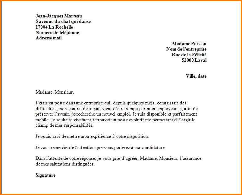 lettre demande de document administratif