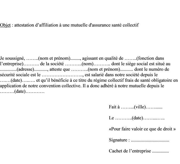 lettre demande de prise en charge mutuelle