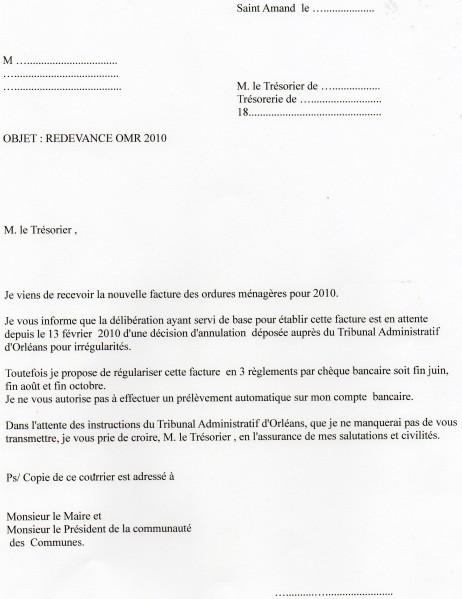 lettre demande echelonnement de paiement